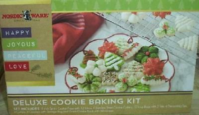 Nordic Ware 43 Piece Deluxe Christmas Cookie Baking Kit Spritz Press Cutters New