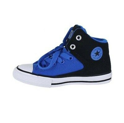 63036cb67c61 Converse Boy s Chuck Taylor All Star High Top Street Blue Black Sneakers  Shoe