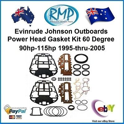 A Brand New Johnson Evinrude 60 Degree 90hp-115hp Powerhead Gasket Kit  R 437779