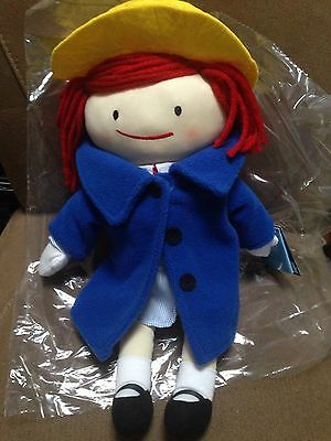 """NWT Plush 16""""  YOTTOY MADELINE DOLL Yarn Hair with Dress and Coat"""