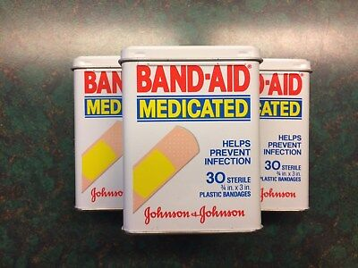 """Band-Aid Tin  """"Medicated"""" NEW **Vintage**"""