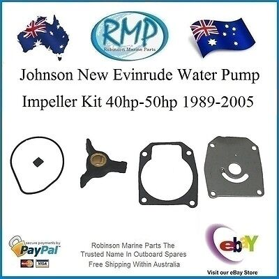 A Brand New Water Pump Kit Evinrude Johnson 40hp-thru-50hp 1989-thru # R 438592