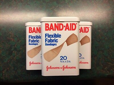 """Band-Aid Ridgid Poly flip lid container  """"Flexible Fabric"""" NEW **Vintage**"""