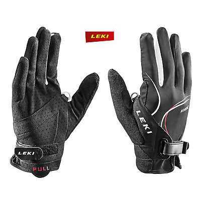 LEKI Nordic Lite Shark long - Nordic Walking Handschuhe - Loop integriert - rot