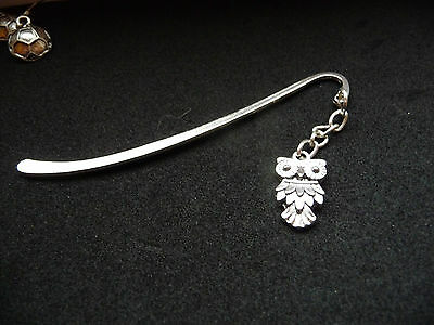 Tibetan Silver Feathered Owl Bookmark NEW