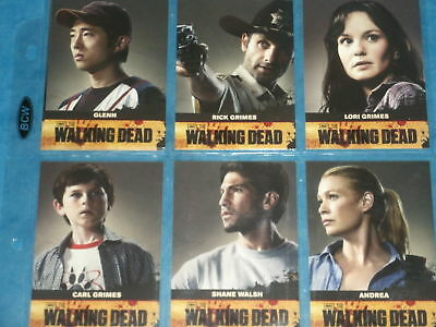 THE WALKING DEAD: Season One Trading Card Collection Base Set & Chase Cards Rare