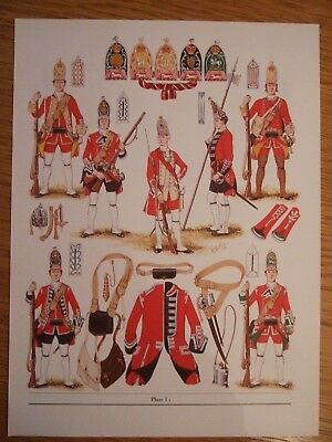 Military Print-1751 Infantry Of The Line -Grenadier Companies By  Bk Fosten