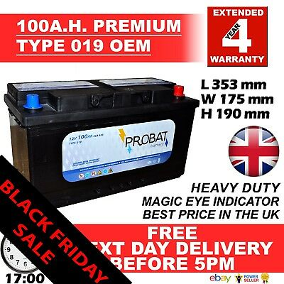 Type 334 Titanium  Car Battery 12V 91Ah - Fast & Free Delivery