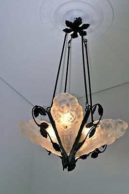 DECKENLAMPE ART DÈCO, DEGUE, ca. 1925