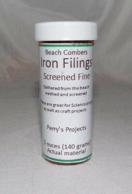 Beach Combers Fine Iron Fillings, 5 ounces (140 grams) Gathered from the beach