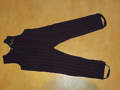 VINTAGE BABY CAT SUIT SIZE 27 blue red stripe New