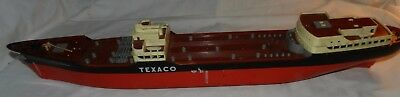 "Vintage Texaco North Dakota Oil Tanker toy ship for Parts or Repair -26.75"" long"