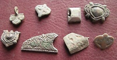Authentic Ancient Lake Ladoga VIKING Artifact > Lot of Belt Decorations  RJ 67-B