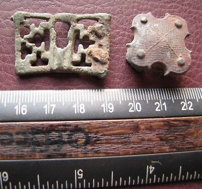 Authentic Ancient Lake Ladoga VIKING Artifact > Lot of Belt Decorations  RJ 67-D