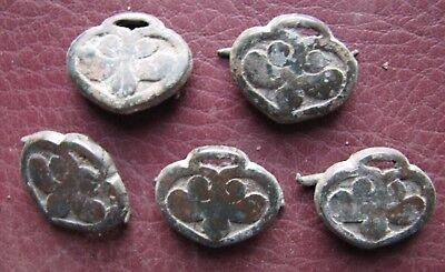 Authentic Ancient Lake Ladoga VIKING Artifact > Lot of Belt Decorations  RJ 67-J