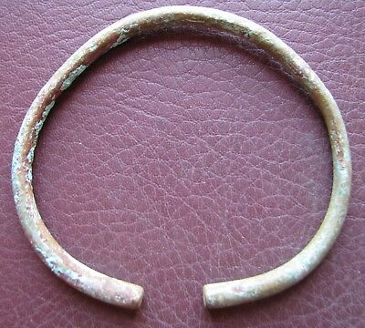 Authentic Ancient Lake Ladoga VIKING Artifact > Bronze Bracelet  RJ 79-D