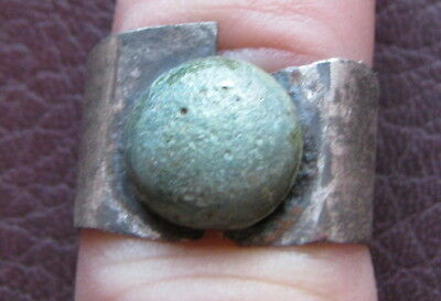 Authentic Ancient Lake Ladoga VIKING Artifact > Silver Finger Ring  RJ 80-A