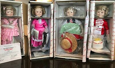 "Danbury Mint Shirley Temple ""Dolls of the Silver Screen"" Collection - 8 Dolls"
