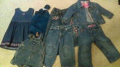 3a96481f2084b LOT OF BABY girl 3/24 month Jean clothes