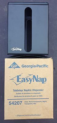 6 Georgia Pacific EasyNap Counter Top Napkin Dispenser NEW in BOX Black 54207