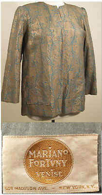 ALL ORIGINAL MARIANO FORTUNY 1930's Vintage STENCILED JACKET_Near MINT_RARE!