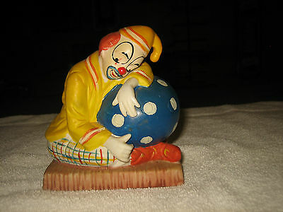 """Vintage Hand Painted Ceramic Clown By Price Products~5"""" Tall X 4 1/4"""" Wide"""