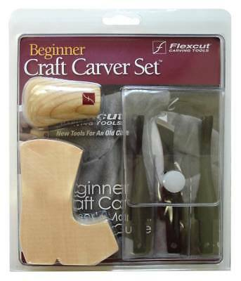 Flexcut Beginner 3 Piece Craft Carver Set