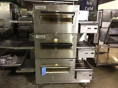 Lincoln Impinger Triple Stack Conveyor Pizza Oven  REFURBISHED /1 PHASE