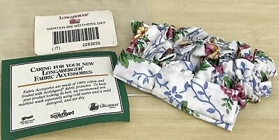 Longaberger Small Garter in Mother's Day Floral Scallop