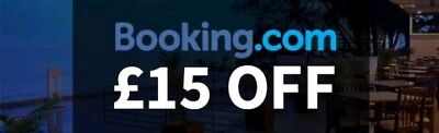 Get £15 off when you book with Booking.com !!