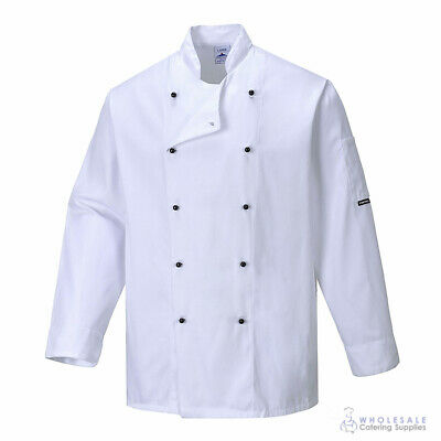 Chef Jacket Coat Long Sleeve White Hospitality Uniform Cook Kitchen Portwest 2XL
