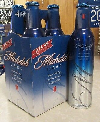 2006 Michelob Light Carry Carton 4 Pack Aluminum Bottle Beer Cans #500278