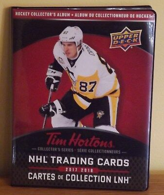 2 x 2017-18 UD TIM HORTONS LIMITED EDITION COLLECTORS BINDER Rare Holds Set!!