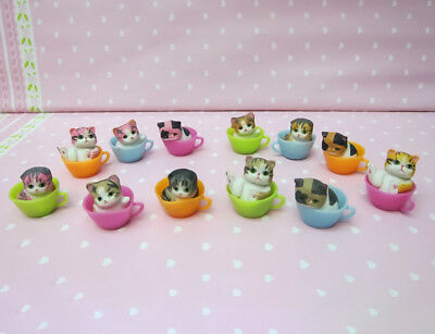 Lovely Kitten Pet Cat in The Cup Baby Cat Figure Home Ornaments DIY Decor