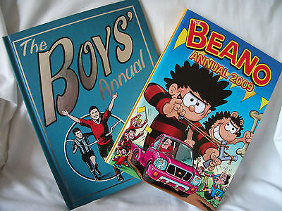 """2 Annuals for 2009 """"Beano"""" and """"The Boys Annual"""" – Ref 608"""
