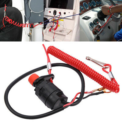Outboard Cut off Boat Motor Kill Stop Switch Safety Lanyard For Yamaha Useful HQ