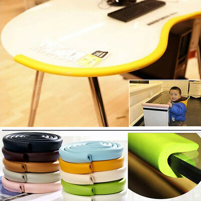 2M Baby Safety Corner Desk Edge Bumper Foam Protection Soft Cover Table Cushion