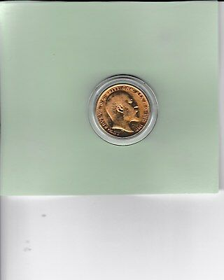 1 only 1909 Gold Sovereign