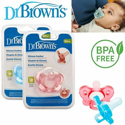 Dr Brown's Baby New One Pices Options Silicone Infant Orthodontic Soother