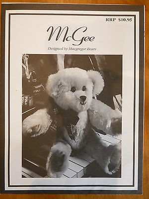 McGEE Plush Bear Pattern COMPLETE by MacGregor Bears