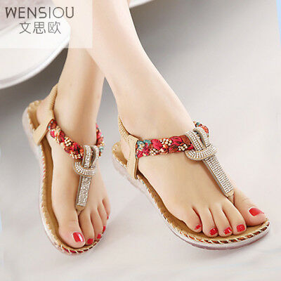 Summer Women Bohemia Gladiator Sandals Women  Flat Shoes Ladies New Flip Flops