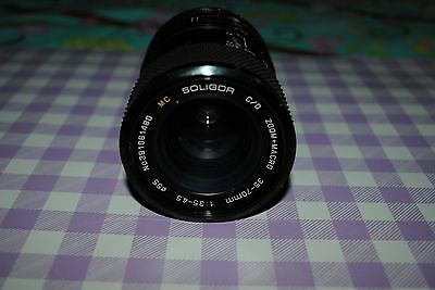 Soligor Zoom + Macro 35-70mm Camera Lens 1:3.5 - 4.5 for Canon FD Camera  Japan