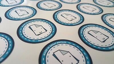 500 Printed Round Stickers - Custom Logo labels - Postage labels - Personalised