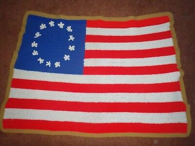 40 AMERICAN FLAG WOOL THROW BLANKET Made In USA Stars Stripes Cool Stars And Stripes Throw Blanket