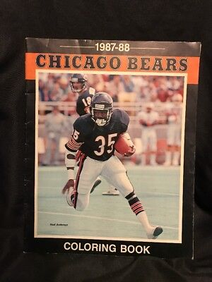 Chicago Bears Coloring Book  Burger King 1987-88