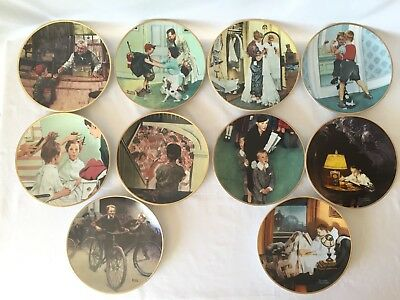 "Norman Rockwell ""Coming of Age"" collection, Complete 10 plate set"