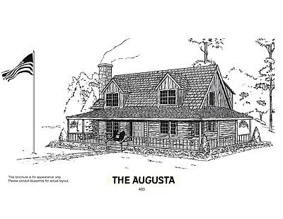 2986 sq foot American Log Homes Augusta Log Package for only $19,450.