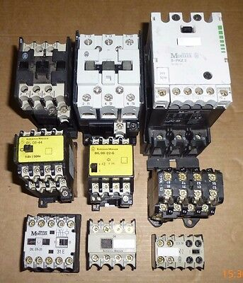 New Klockner Moeller Contactors & Ancillaries AC/DC various voltages