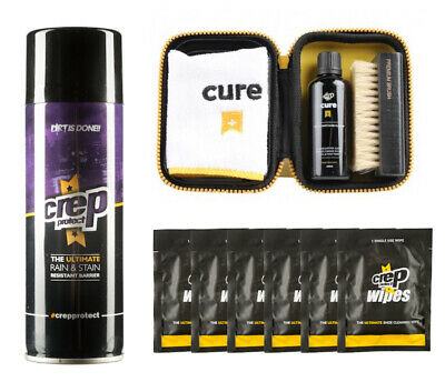 CREP Combo Bundle:Crep Cure Travel Kit, Crep Protect Spray, 6 Crep Protect Wipes