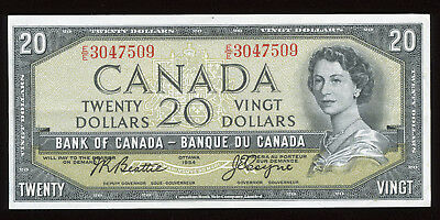 1954 Bank of Canada $20 Devil's Face Variety - Nice condition!
